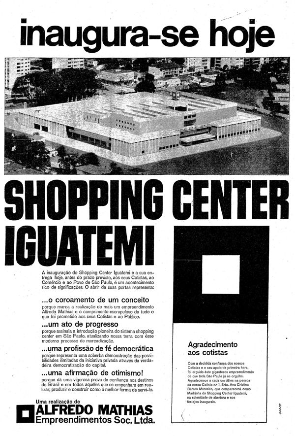 Como era São Paulo sem shopping center - noticias - O Estado de S. Paulo - Acervo Estadão
