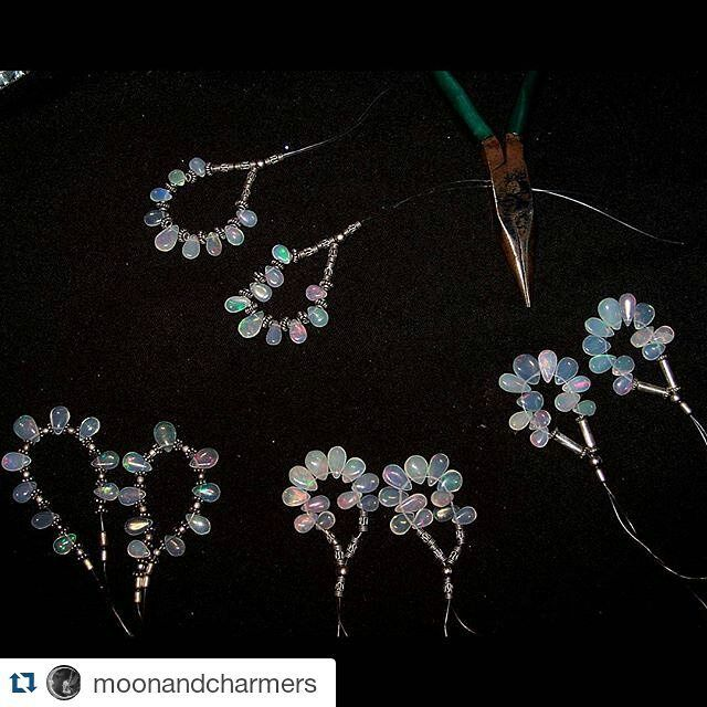 #Repost @moonandcharmers  Work in progress...Multi Fire Ethiopian Welo Opal Almond-Pear Shaped Smooth Drop Silver Hoop Earrings...which one you like... Coming up in our new ETSY shop.  #etsy #ethiopianopal #opal #ethiopianopalearring #opalsilverearring #opalearring #silverearring #opalhoopearring #handmadejewelry #opaldropearring #opalbriolette #rainbowfireopal #oneofakindopal #opaljewelry #handcraftedjewelry #instashot #like4like #picoftheday #20likes #moonandcharmers #nocrop