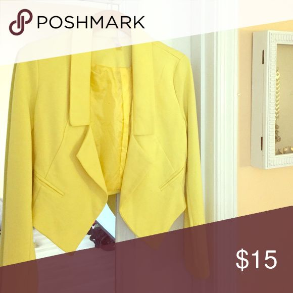 Yellow blazer Yellow blazer size small. Worn once. Perfect pop of color to spice up your outfit. Jackets & Coats Blazers