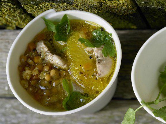 Rezept: Suppe mit roten Linsen