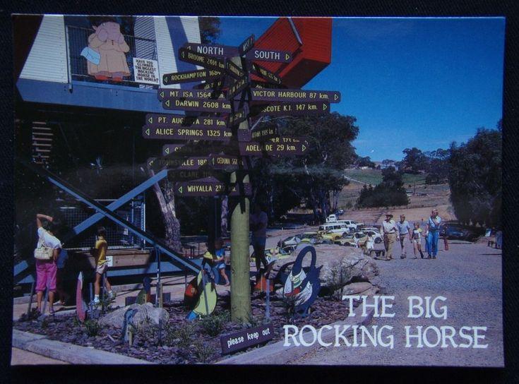 The Big Rocking Horse Signpost Gumeracha SA c1970's Postcard (P240) | eBay