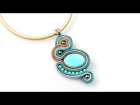 Beaded Shiny Rivoli Pendant or Brooche Beading Tutorial by HoneyBeads (Photo tutorial) - YouTube