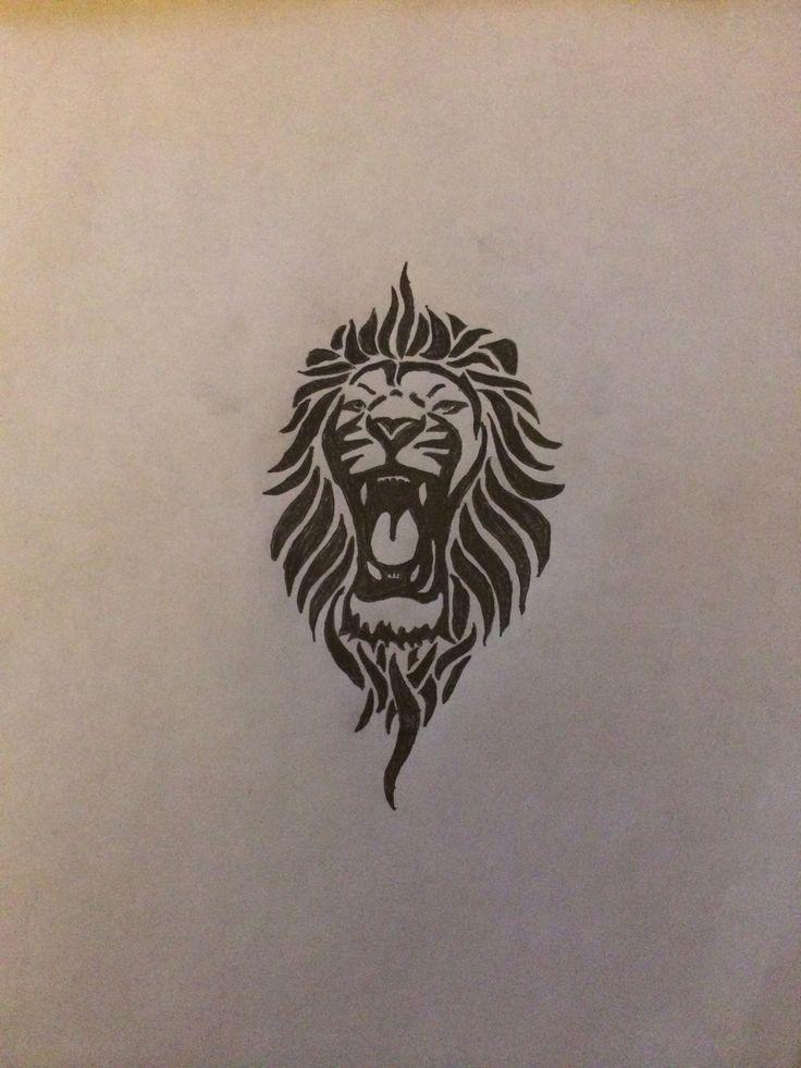 best 25 tribal lion tattoo ideas on pinterest. Black Bedroom Furniture Sets. Home Design Ideas