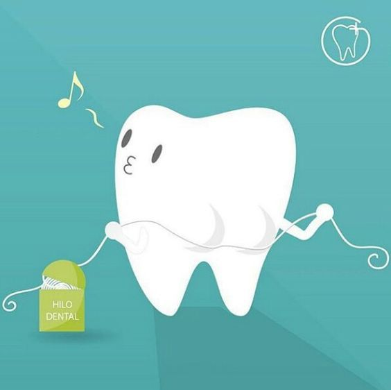 Flossing once a day keeps your teeth and gums happy and healthy.
