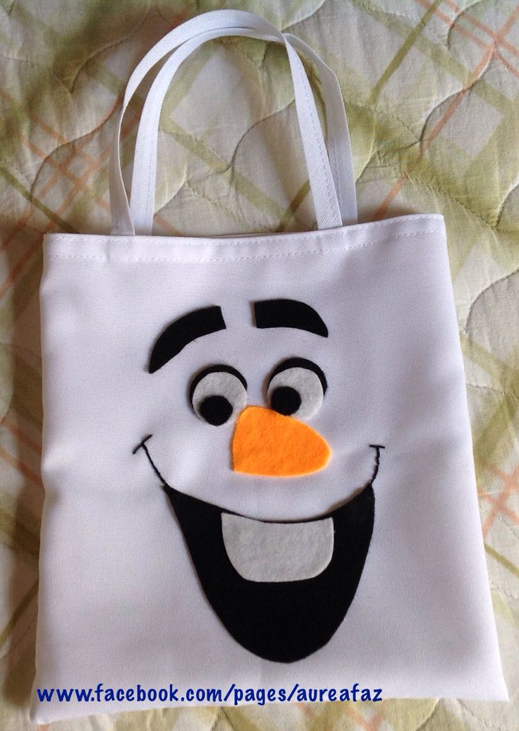 Sacolinha Surpresa - Festa Frozen -Olaf Feita em tecido Oxford com aplicação em feltro. https://www.facebook.com/pages/Aureafaz/159821050808674?ref=hl