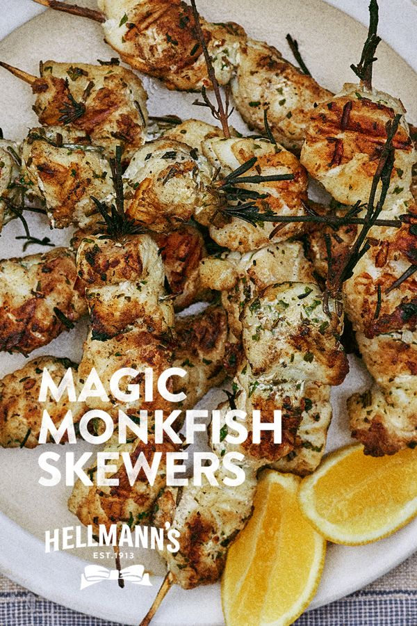 Kebabs are given a fresh new twist with this summer spectacular recipe from Hellmann's. All hail the Monkfish Kebab.