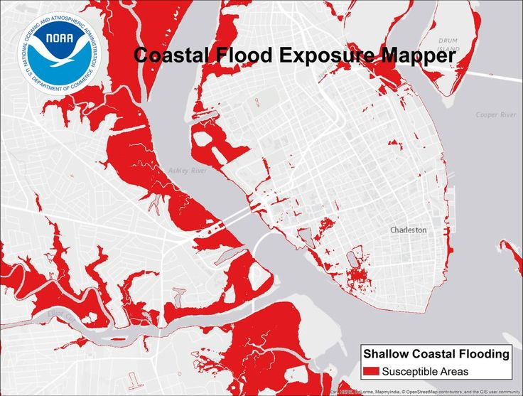 Actonclimate Tools You Can Use Atnoaa Map Shows Infrastructure Resources Facing Flood