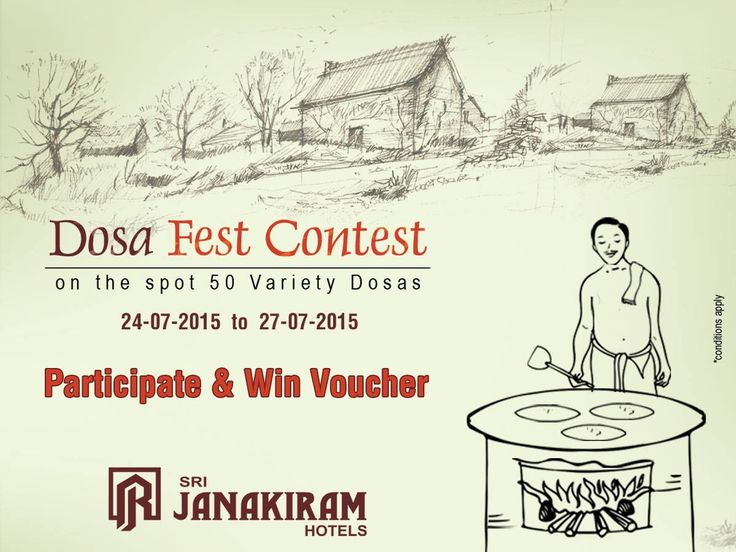 """Hey Foodies! A Surprise for you!! Participate in the online """"DOSA FEST CONTEST"""" and win #voucher  ! Stay updated with us!!! #food #dosa_festival #DosaFest #carnival #DosaVarieties"""