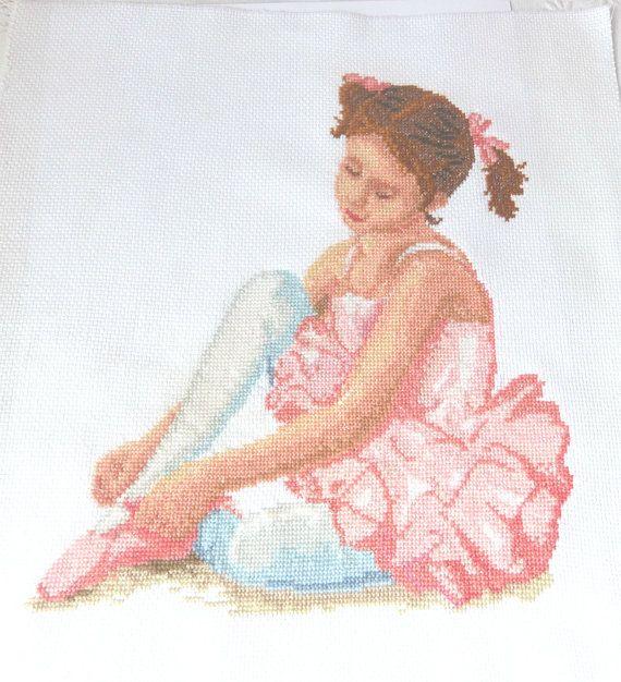 Little ballerina Ballerina Print Pink wall by CrossStitchElizabeth