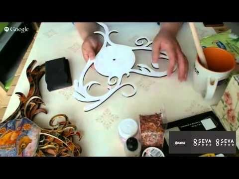 #МК Дианы Январевой-часы в леденцовой технике. Ручная работа - YouTube