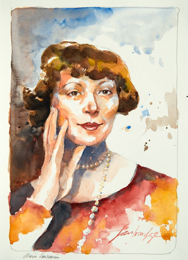 Marie Laurencin. Une série de portraits à l'aquarelle en hommage aux grands artistes du 19 ème au 20 ème siècle. Le lien vers mon blog : www.humericbox.com