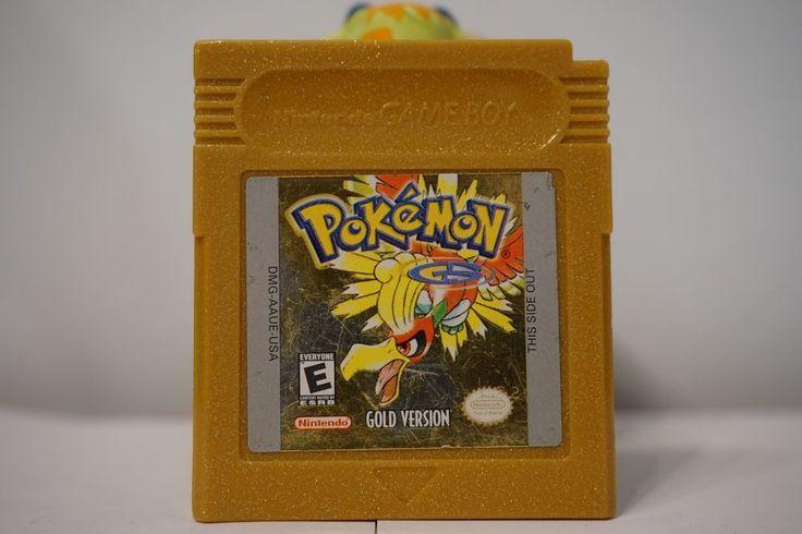 Pokemon Gold version game boy color gbc (NEW BATTERY) American version USA 5194