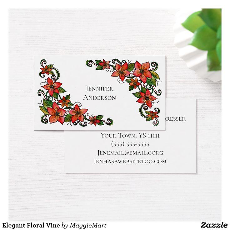 10 best vintage business cards images on pinterest cartes de elegant floral vine business card reheart Image collections