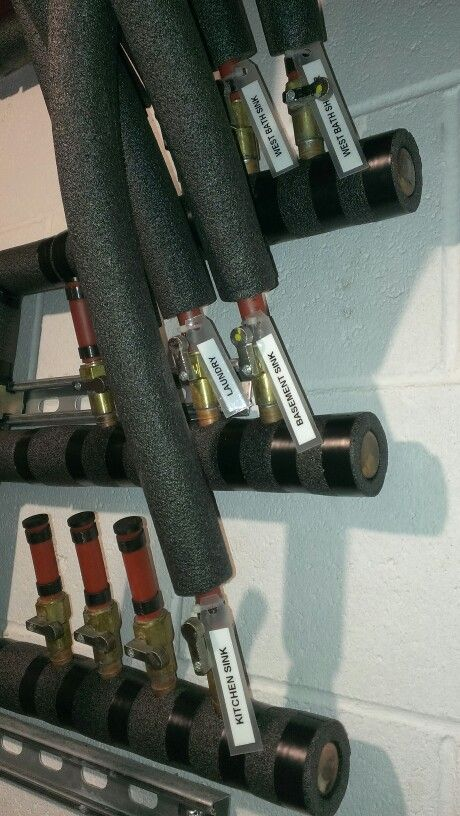 Pex manifold with insulation and tags home improvement for Pex hot water heating system