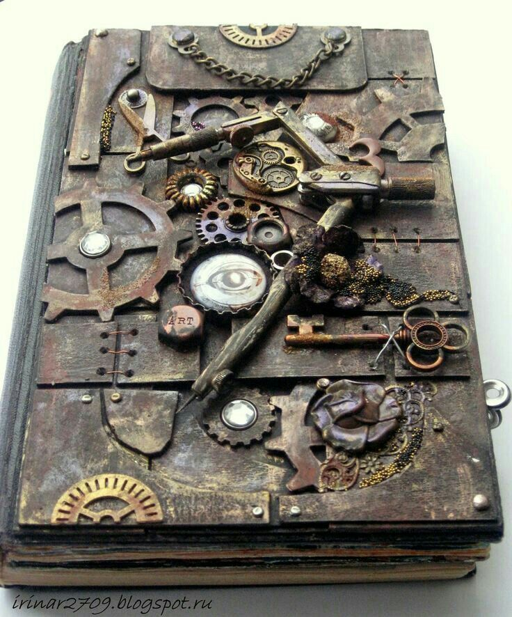 Steampunk Book Cover Tutorial : Best ideas about scrapbook cover on pinterest journal