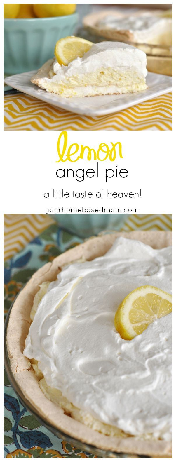 Lemon Angel Pie Recipe - This is a little taste of heaven in your mouth!