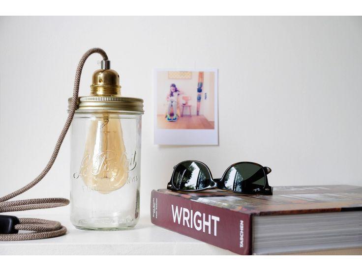 17 best id es propos de lampe bocal sur pinterest lampe de pot lumi res en bocaux et abat jour. Black Bedroom Furniture Sets. Home Design Ideas