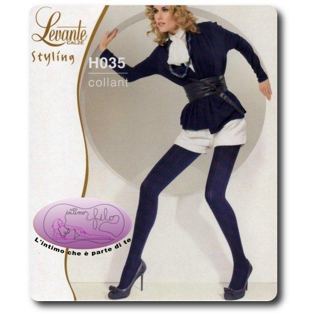 """Collant moda lavorato della collezione Levante Styling. Bordo elastico """"soft comfort"""", punta nuda, cuciture piatte, tassellino in cotone."""