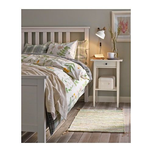 IKEA HEMNES Gray Dark Gray Stained, Luröy Bed frame