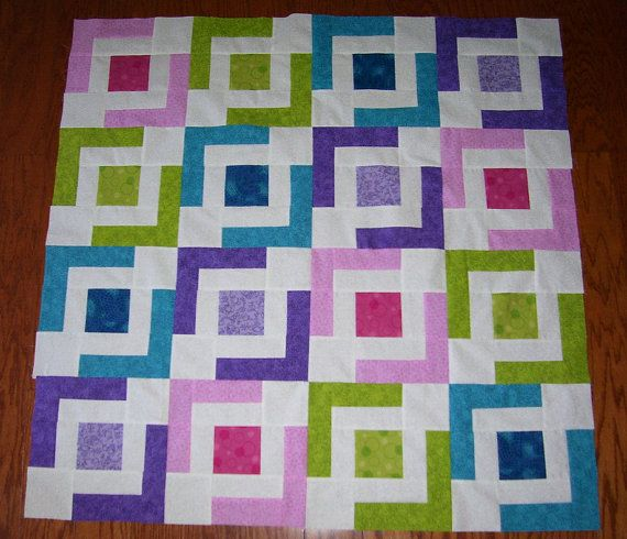 Beginner Quilt Patterns For Baby : Beginners Baby/Lap Quilt Jaded Chain Pattern Blanket Pattern - two la?