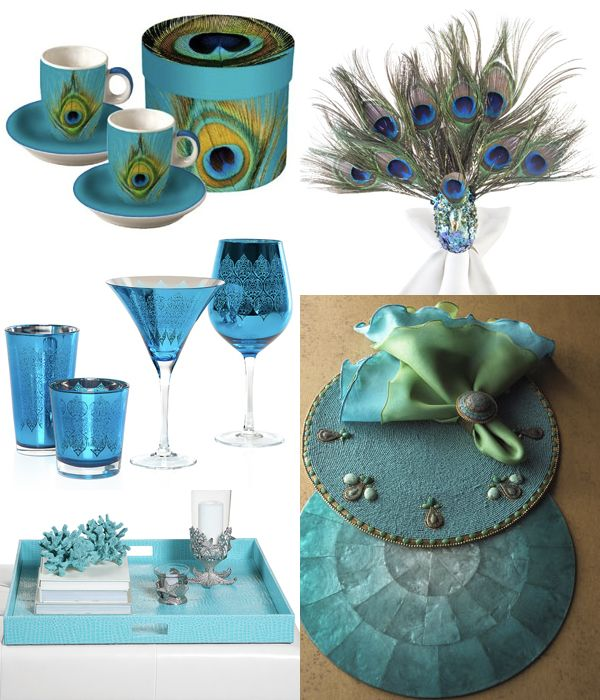 Peacock Turquoise Finds For Entertaining.