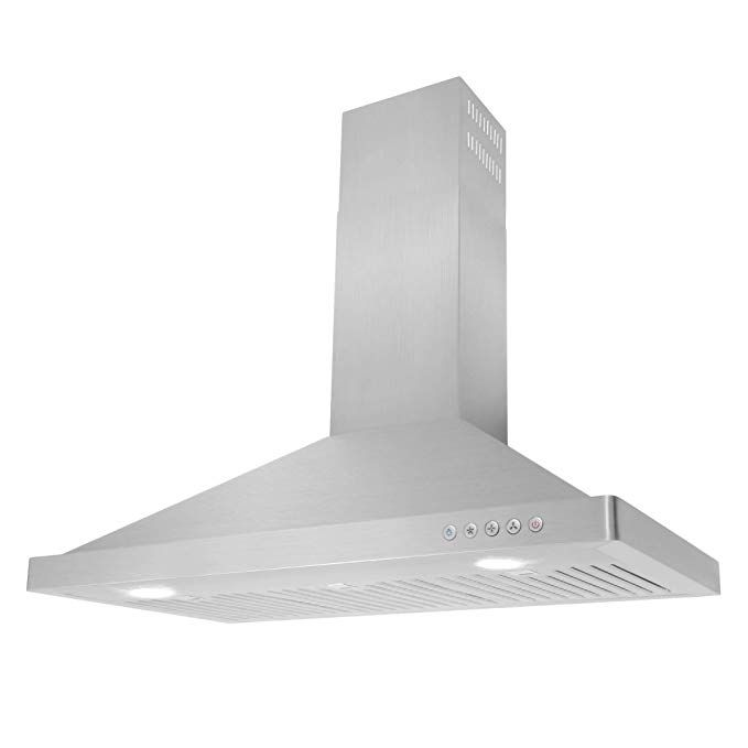 Amazonsmile Cosmo 63190 36 In Wall Mount Range Hood 760 Cfm Ducted Ductless Convertible Duct Kitch Wall Mount Range Hood Range Hood Kitchen Decor Modern