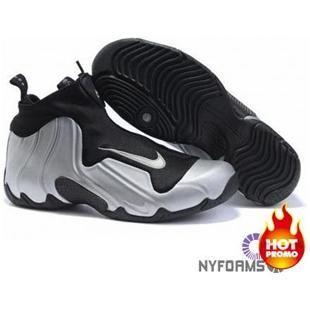 Nike Air Flightposite Black Metallic Silver Black. Nike FoampositeShoe ...