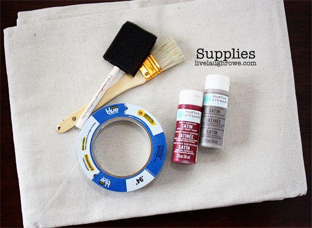 supplies diy drop cloth table runner