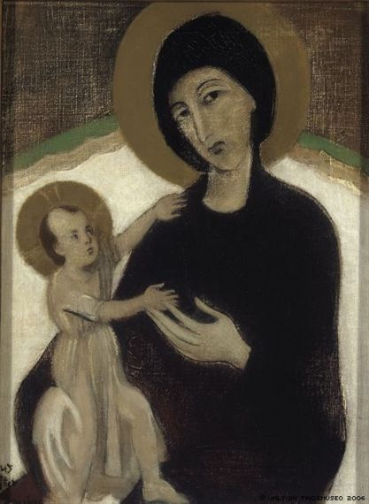 artemisdreaming:  Madonna and Child, after Cimabue, 1932 Helene Schjerfbeck See archive for moreHERE. Queue