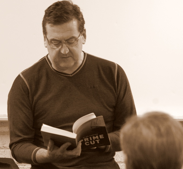 Author Alan Carter reads to guests at our May Meet the Author night.