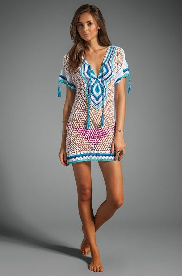 Amalfi #crochet dress / summer coverup from Anna Kosturova