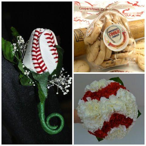love these baseball theme boutonnieres' #sexybaseball #baseballwedding http://itsabrideslife.com/tag/baseball-themed-wedding/