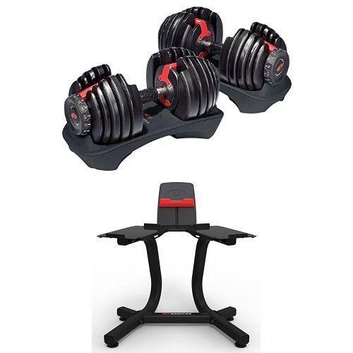 Bowflex Selecttech 552 Adjustable Dumbbells Pair And Stand Bundle No Equipment Workout Adjustable Dumbbells Bowflex