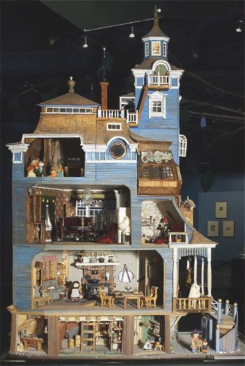 Moomin's doll house made by Tove herself