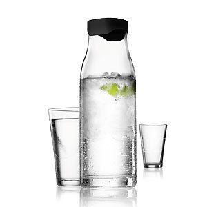 Cocina Categorias Mesa Jarra o botella de agua de capacidad 1l con tapa de color negra-