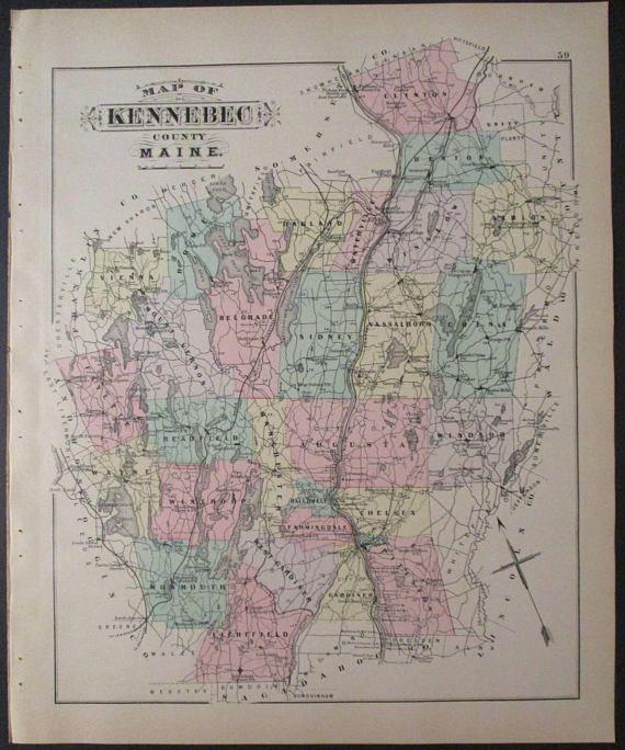 1890 Kennebec County Maine Augusta Hallowell Vassalboro Belgrade