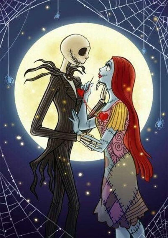 Jack And Sally In Love Nightmare Before Christmas 8x Nightmare Before Christmas Drawings Nightmare Before Christmas Wallpaper Nightmare Before Christmas Tattoo