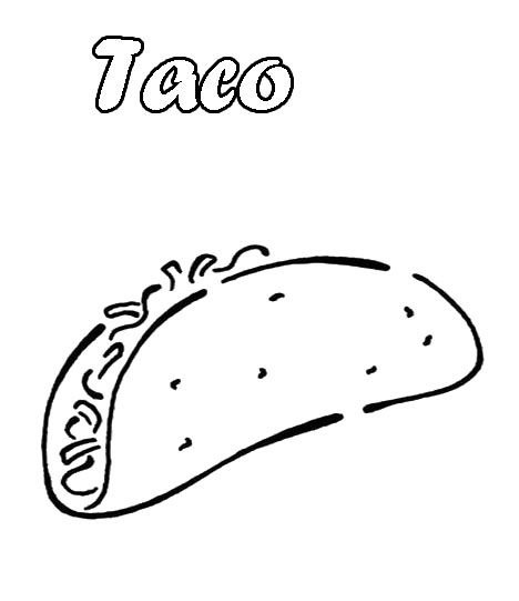 taco coloring pages for kids - photo #4