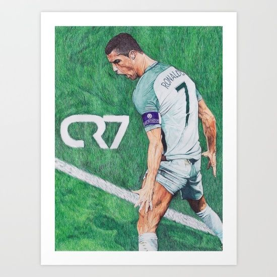 CR7 PORTUGAL DRAWING $20.00 by DeMoose_Art Collect your choice of gallery quality Giclée, or fine art prints custom trimmed by hand in a variety of sizes with a white border for framing.