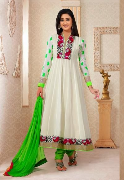 Neon Colored Suits from Shweta Tiwari Collection, for sale online in UK. Get the complete range of Indian Ethnic Bollywood Collection Suits at Variety Haat