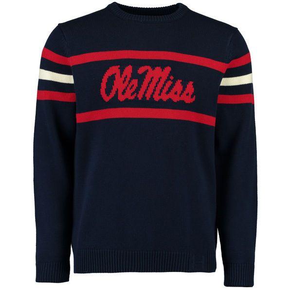 Ole Miss Rebels Hillflint Vintage Stadium Knit Sweater - Navy - $67.99
