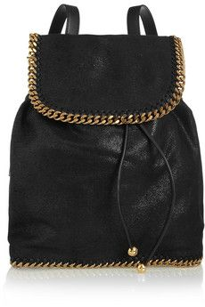 Stella McCartney | The Falabella faux brushed-leather backpack