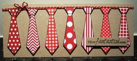 Farsdagskort med slipsar