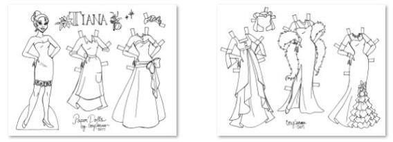 Tiana Para Colorear Recortar Y Vestir Ropa De Papel Muñecos De Disney Muñecas