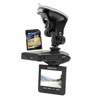 """OMEGA CAR DVR BLACK BOX 2,4"""" TFT HD 720P (1280x720) z obrotowym wyświetlaczem i wymiennym akumulatorem. Samochodowy rejestrator obrazu i dźwięku HD720P z 2,4-calowym kolorowym ekranem TFT z funkcją nagrywania w nocy (podczerwień)"""