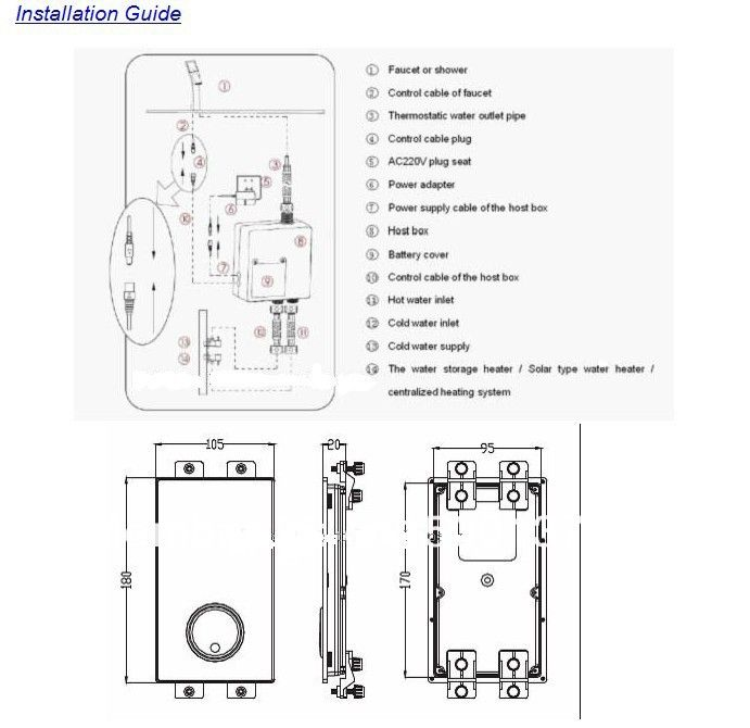 Fontana Thermostatic Digital Shower Mixer Intelligent Shower