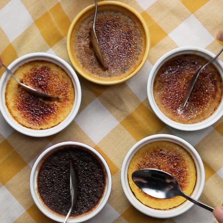 3 Ingredient Creme Brulee // #dessert #cremebrulee #carmel #matcha #CremeBrulee #Desserts #Tasty