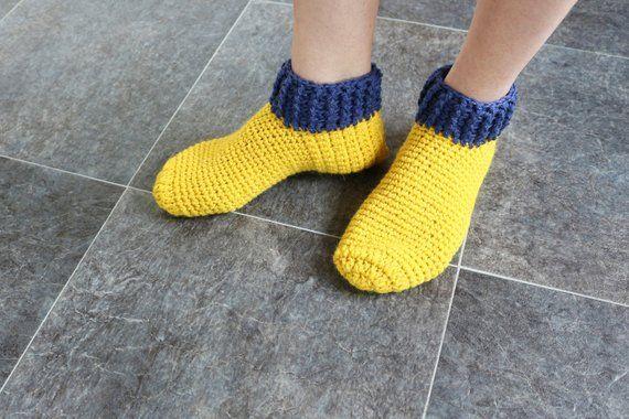 ae3e16be9c686 Adult slippers Alpaca wool Knitted socks House slippers Nana gift ...