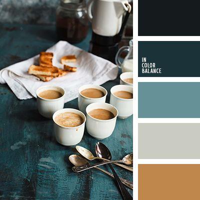 café con leche y blanco, celeste claro, gris azulado, gris claro y marrón, marrón pastel y negro, ocre y gris azulado, turquesa y marrón.