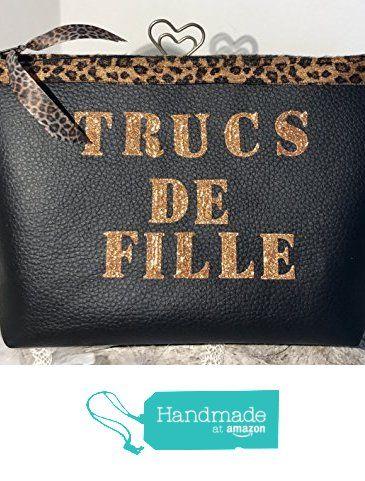 """Trousse """"TRUCS DE FILLE """" noir et Léopard à partir des Mode2filles by Inès&Zoé https://www.amazon.fr/dp/B01NCM8DQ9/ref=hnd_sw_r_pi_dp_8XSuyb2F7EC0A #handmadeatamazon"""